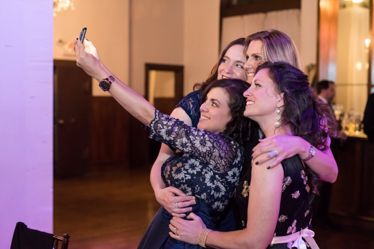 guests taking selfie